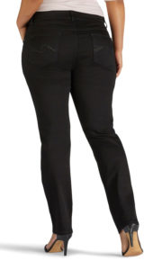 Black jeans with minimal pocket detail