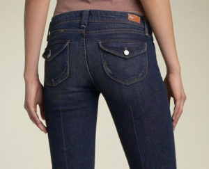 curved flap-pockets on jeans