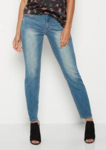 Vintage Wash Sandblasted Look Skinny Jeans