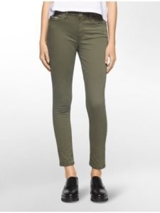 Skinny Ankle Jeans Garment Dyed Ivy Mist
