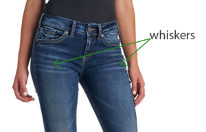 whiskering on jeans
