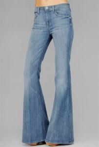wide flare, bell bottom jeans