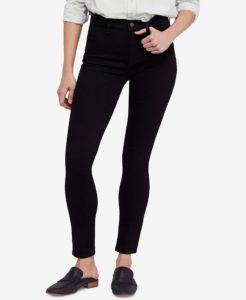 high rise dark jeans
