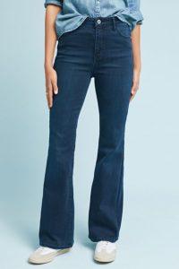 stretch denim bootcut jeans