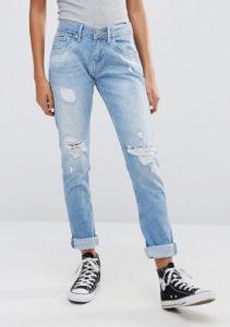 cuffed boyfriend jeans
