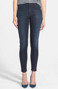 dark wash, plain jeans