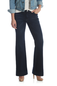 flare jeans cut loose in the thigh