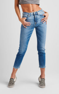 high rise cropped straight leg jeans