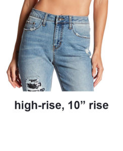 rise on jeans, high rise jeans