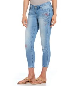 jeans with minimal embellishment