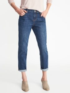 narrow cuff boyfriend jeans