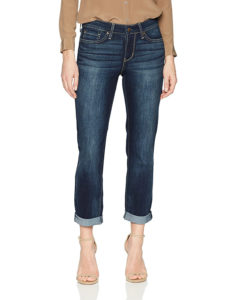 narrow cuffed jeans