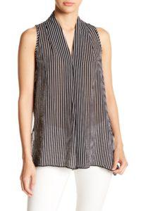 sleeveless stripe top