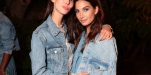 Ruby Aldridge and Lily Aldridge in denim on denim