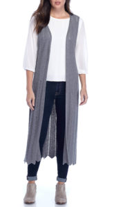 long gray sweater to wear with black jeans