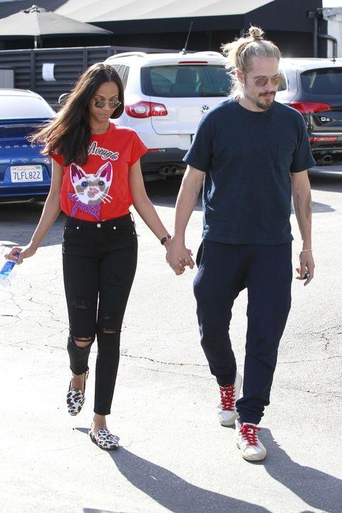 Zoe Saldana and Marco Perego