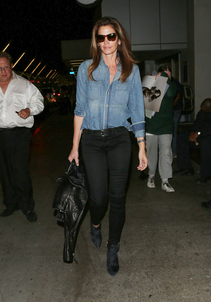 Cindy Crawford double denim