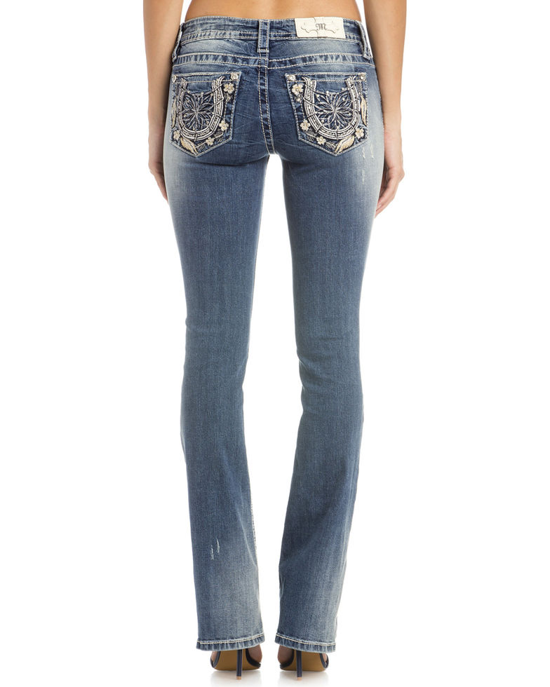 Bootcut Jeans with embroidered back pockets