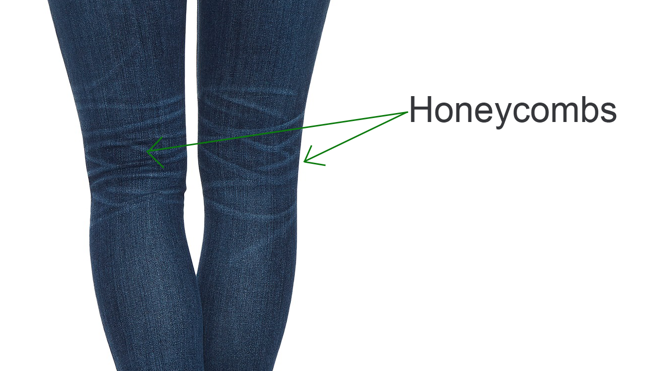 Honeycombs detail - Cropped Skinny Jeans