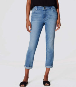 Skinny Crop Jeans in Light Enzyme Wash