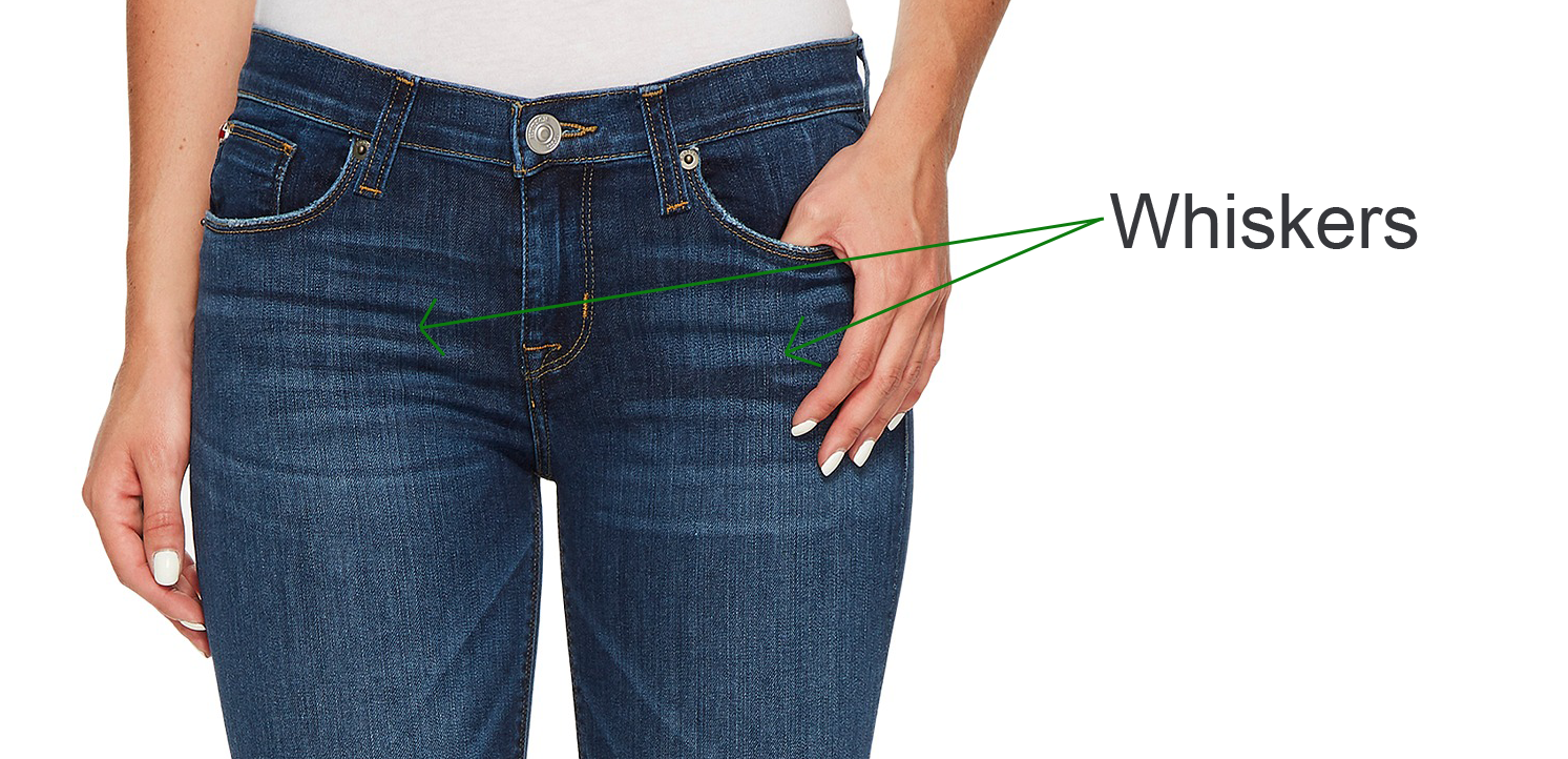 Whiskers detail - Cropped Skinny Jeans