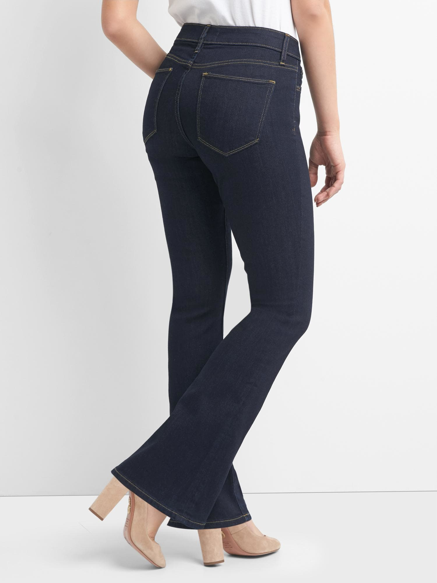 Bootcut curvy fit jeans - back