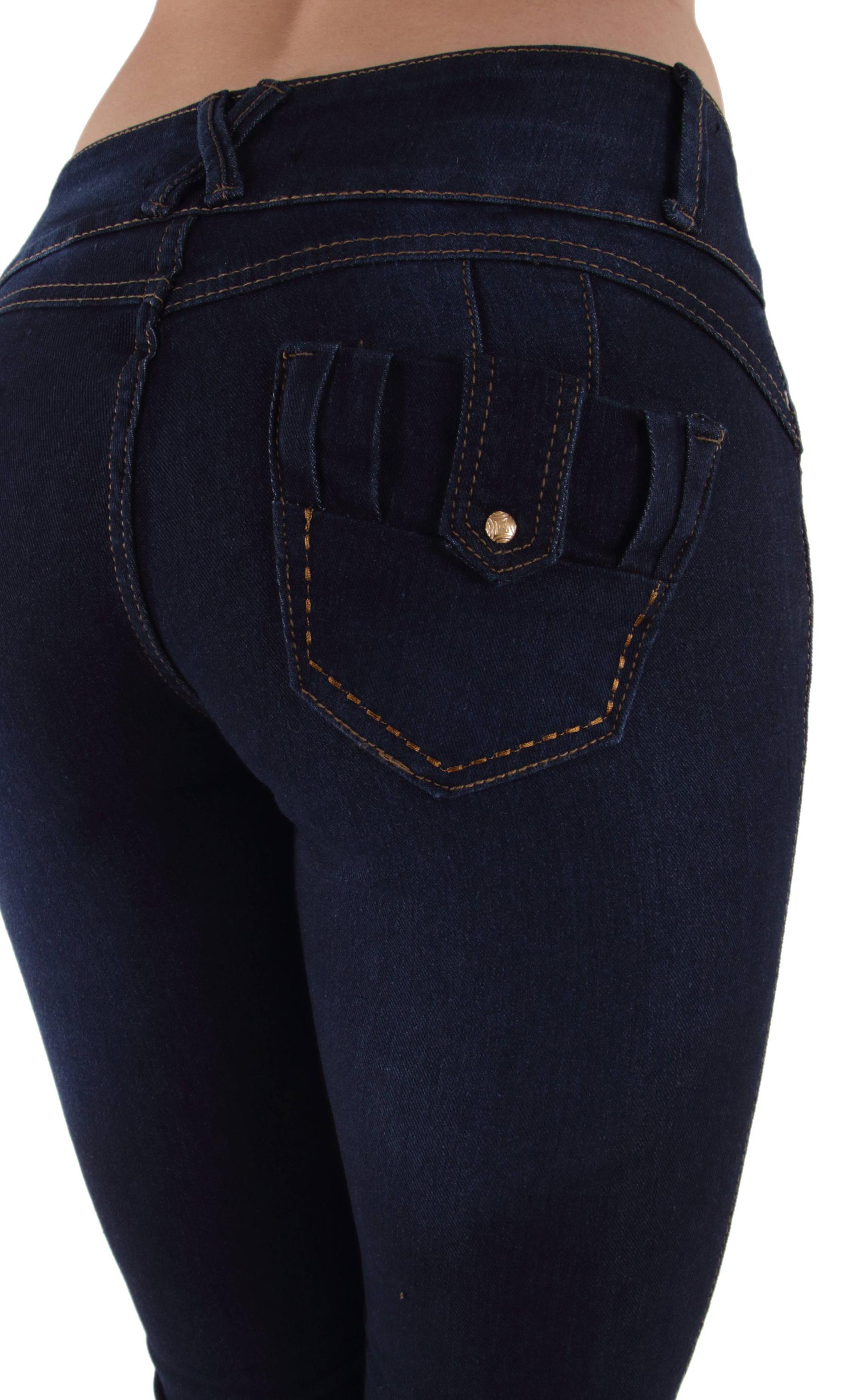 butt lift jeans stitching detail