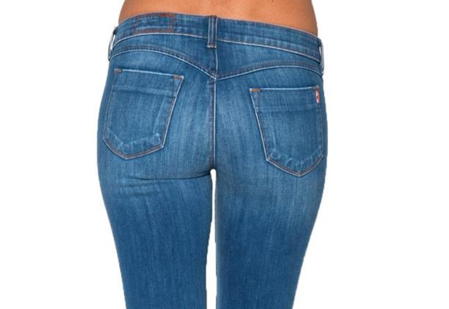 curved or sweetheart yoke jeans