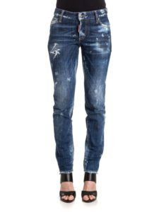 Destroyed Denim Skinny Jeans