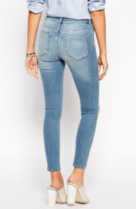 high contrast fading - lighter wash jeans