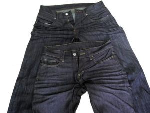 resin set wrinkles on jeans