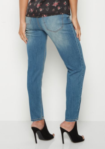 Vintage Wash Sandblasted Look Skinny Jeans - Back