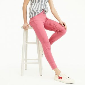 Skinny Jeans Garment Dyed Dusty Red
