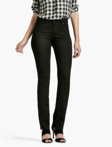 Straight Leg Jeans in Black