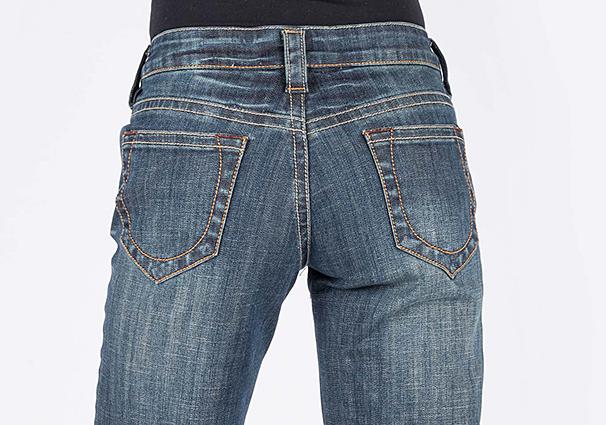 v yoke on jeans