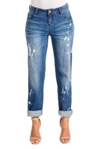 Boyfriend Jeans with bleach spots