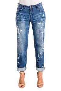 Boyfriend Jeans with bleach spots
