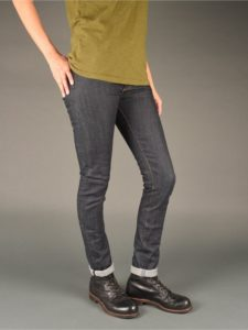 womens raw denim skinny jeans