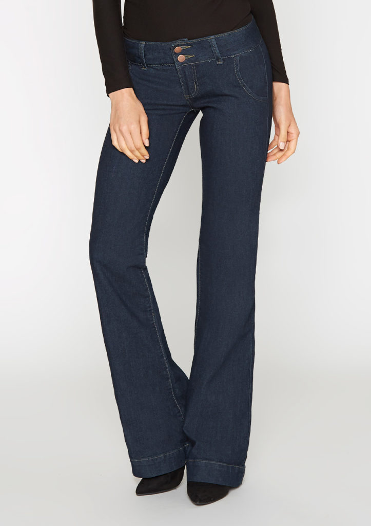 ruler body type jeans, low rise trouser jeans with a wide waistband