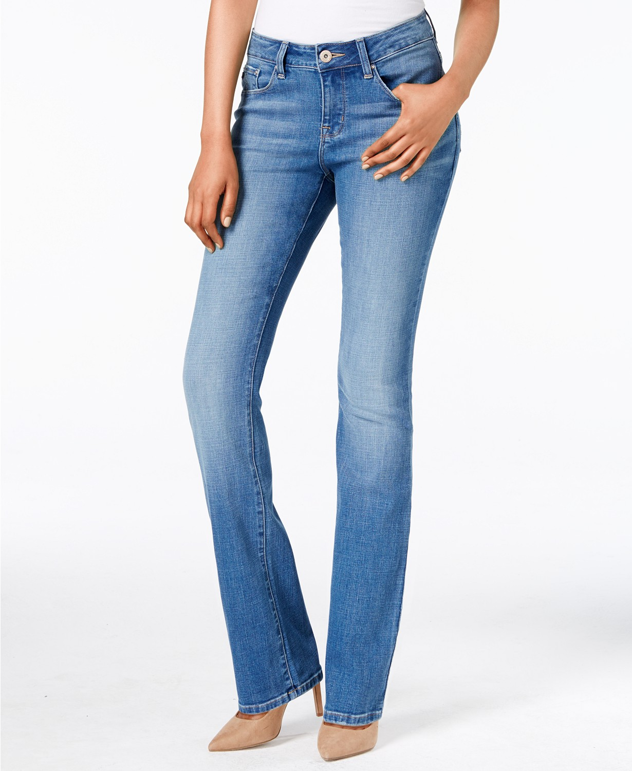 Fitted Bootcut Jeans