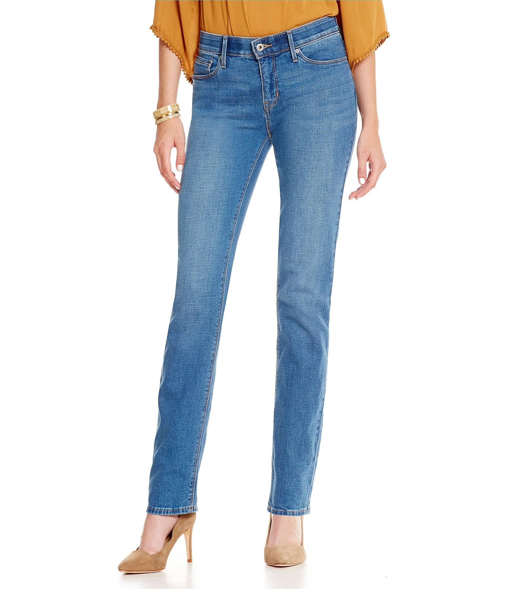 Levis 525 Perfect Waist straight waistband jeans - back view