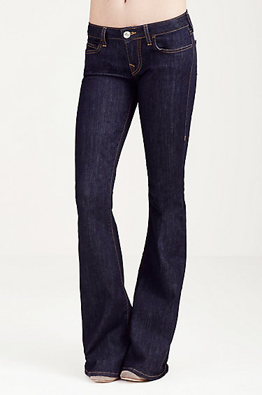 low rise flare jeans, flare leg, types of jeans