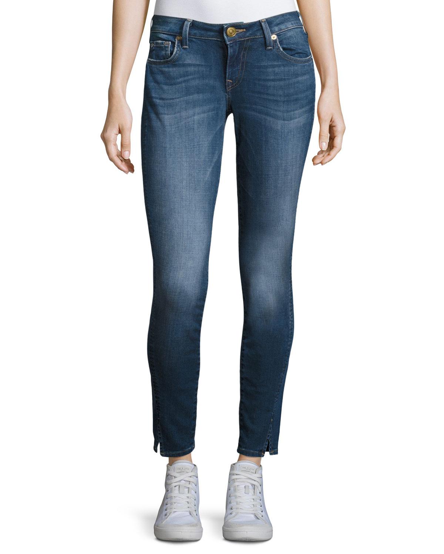 True Religion Jennie Twisted Seam Mid Rise Skinny Jeans