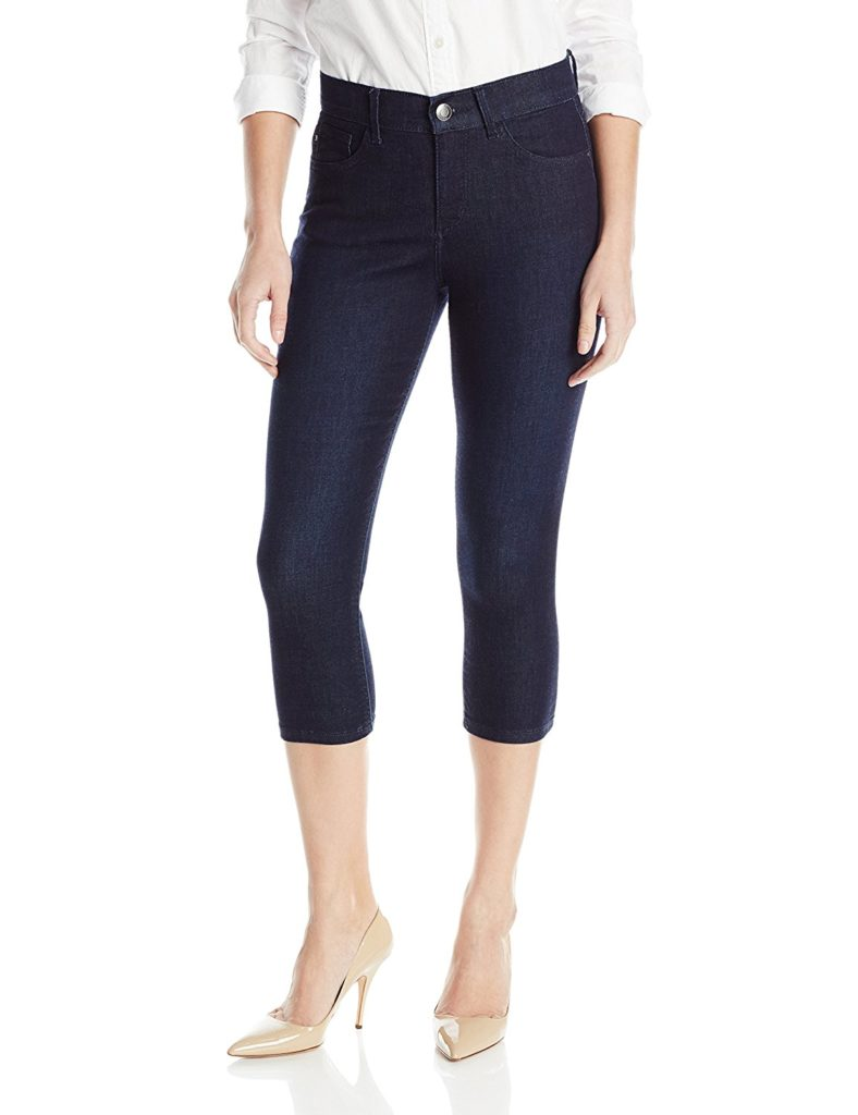 how to wear capri jeans, capri jeans with nude heels