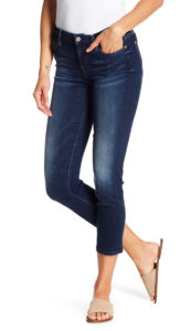 cropped jeans end where the calf begins to narrow