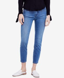 cropped jeans in mid-light wash