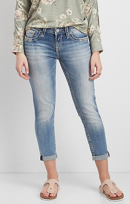 cropped jeans with flesh-toned sandals