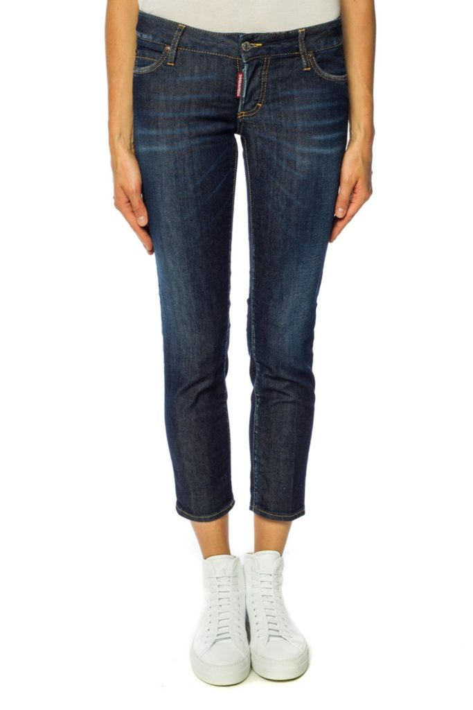 cropped tapered-leg jeans