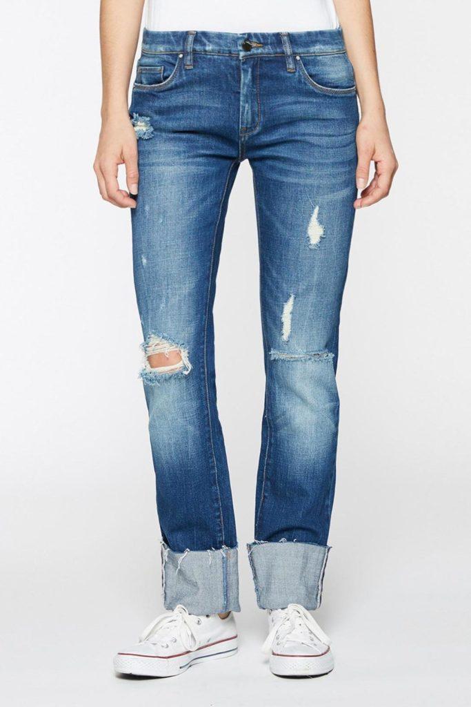 deep cuff jeans