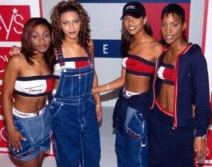 Destiny's Child 1990's denim and jean trends
